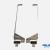 Par braços e dobradiças esq+drt para Asus X61Z 13N0-BTA0G01