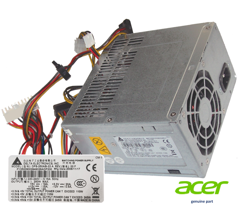 Switching Power Supply Delta DPS-250AB-22 250w 3.15A