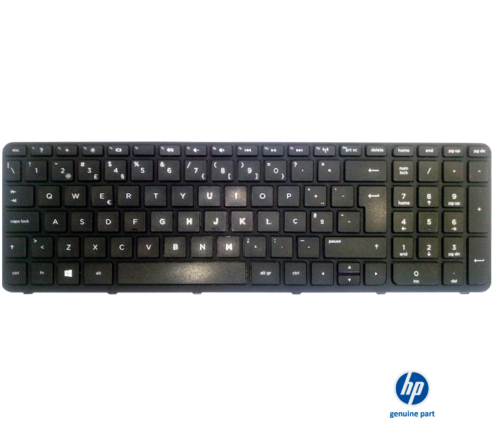 Teclado 749658-BG1 HP 15 series layout SW preto original