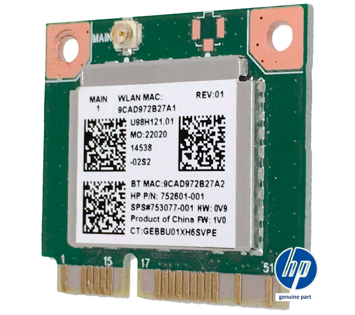 Placa WLAN WiFi Realtek RTL8723BE U98H121.01 4.0 BT